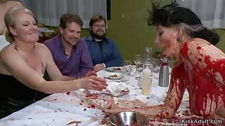 Slave gets pounded thither public consomm� course
