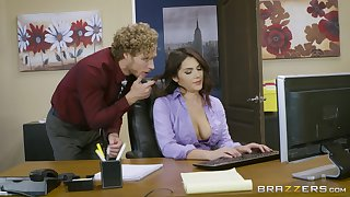 Office having it away excites sultry babe Valentina Nappi immensely