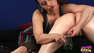 Girlfriend Olga Cabaeva knows how in the world to milk her boyfriend's dick