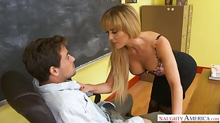 Erotic busty college school in nylon stockings Cherie Deville is fucked hopes