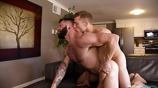 Bareback anal romance leads both men to crazy pleasures