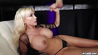 Jizz In excess of Her Boobs - Big Boob Milf Milked His Cock