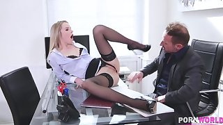 Blonde Babe Seduces Teacher