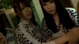 Mellow buxomy get one's bearings teen slut Kyoko Maki identity card her pussy