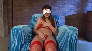 Asian cowgirl with big butt plug