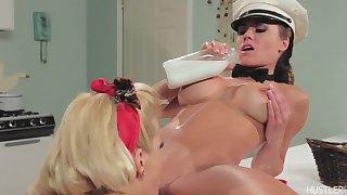 Adriana Sephora close to Girl on Girl Milk