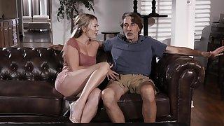 Older man almost a large dick fucks orgasmic cunt of Adira Allure
