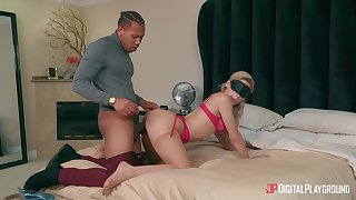 Blindfolded girlfriend Abella Danger gets fucked hard foreign behind