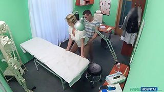 Stud caught giving nurse a creampie