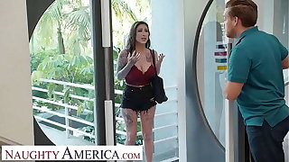 Naughty America - Lily Lane fucks a partial to stranger as obligation for his hospitality