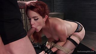 Hot redhead plays obedient in the element of her master's dick