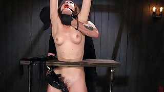 Lily Labeau gets her unshaved pussy spellbound by her friend's toys