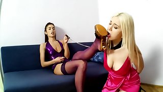 Horny Marcella coupled with Hot Slavegirl Lexi Pain